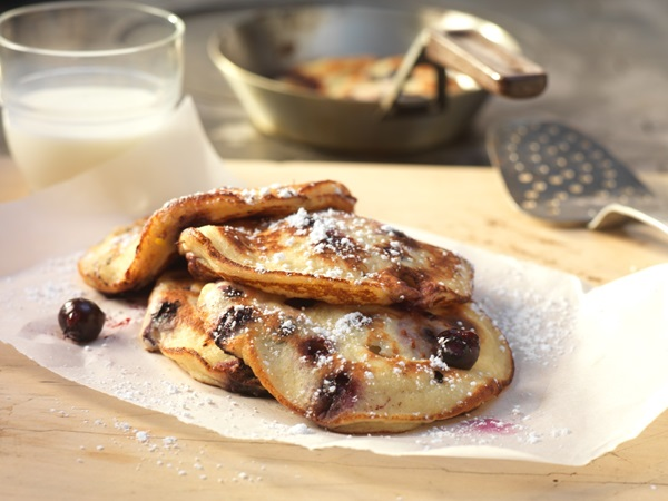 recipe image Heidelbeer-Buttermilch-Pancakes